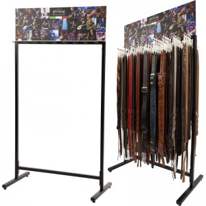 STRAPS' DOUBLE-SIDED FLOOR EXHIBITOR LARGE espositore a terra bifacciale