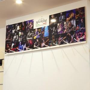 STRAPS\' WALL EXHIBITOR LARGE ad incastro per montaggio su Parete Dogata o a muro, dimensioni 35x99 cm cm corredato con Visual g