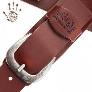 Tracolla per chitarra e basso in pelle Twin Buckle TC Core Marrone Scuro 7 cm