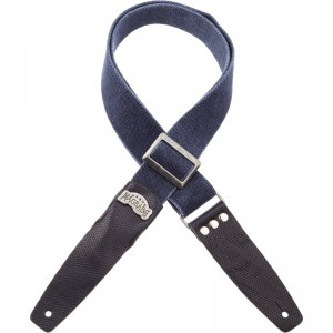 Stripe SC Cotton Washed Blu 5 cm terminali Twinkle Blu, fibbia Recta Argento