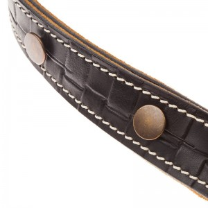 Signature Capitan Fede BS Embossed Intreccio Nero 2,7 cm