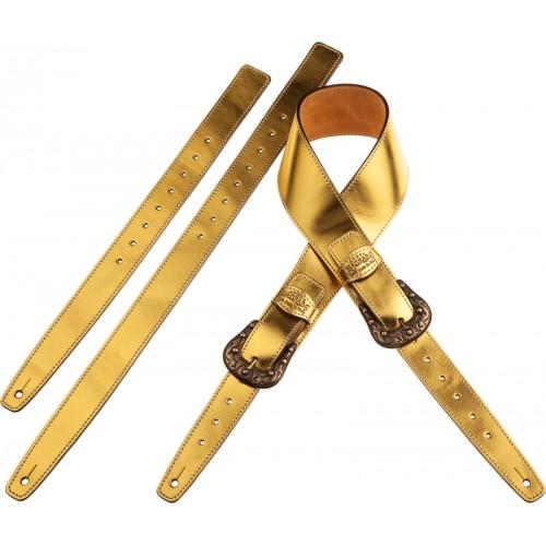 Twin Buckle TS Metallic Gold 7 cm fibbie Sun Ottone