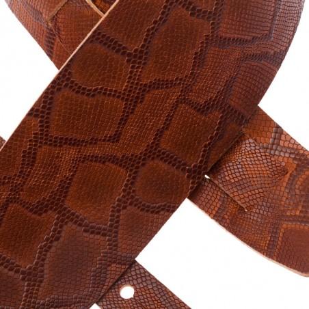 Holes HC Embossed Snake Marrone 10 cm