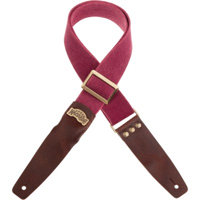 Stripe SC Cotton Washed Bordeaux 5 cm terminali Twinkle Marrone scuro, fibbia Recta Ottone