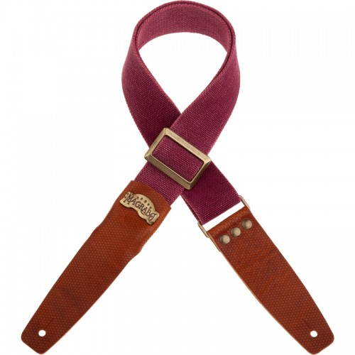 Stripe SC Cotton Washed Bordeaux 5 cm terminali Twinkle Marrone, fibbia Recta Ottone
