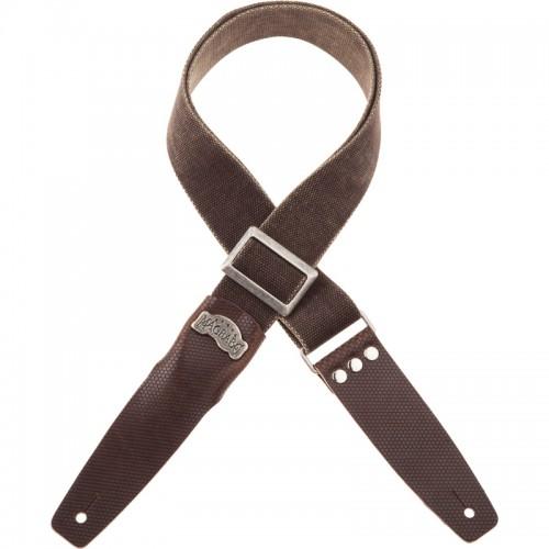 Stripe SC Cotton Washed Marrone 5 cm terminali Twinkle Marrone Scuro, fibbia Recta Argento0