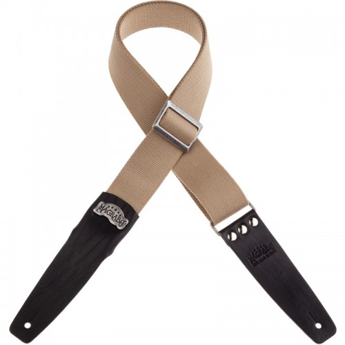 Stripe SC Cotton Beige 5 cm terminali Core Nero, fibbia Recta Argento