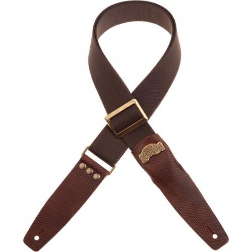 Stripe SC Cotton Marrone 5 cm terminali Twinkle Marrone Scuro, fibbia Recta Ottone