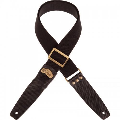 Stripe SC Cotton Nero 5 cm terminali Twinkle Nero, fibbia Recta Ottone