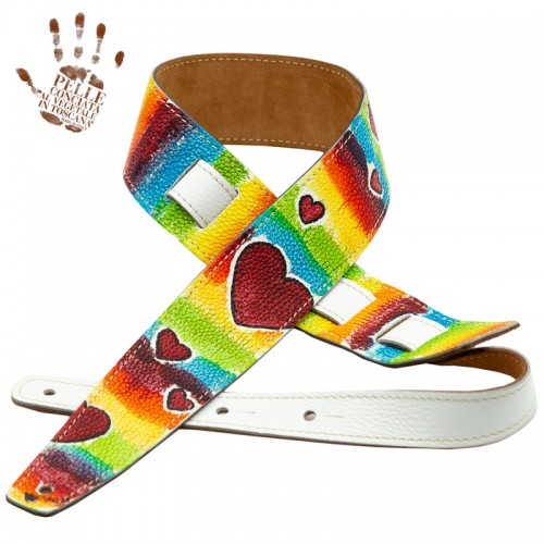 Holes HS Artist Private Stock Colorful Hearts dipinta a mano by AB pezzo unico 6 cm