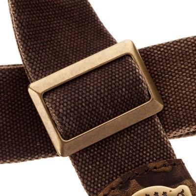 Stripe SS SPECIAL Cotton Washed Marrone 5 cm terminali Grifo, fibbia Recta Ottone