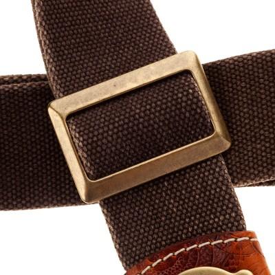 Stripe SS SPECIAL Cotton Washed Marrone 5 cm terminali Ciler, fibbia Recta Ottone