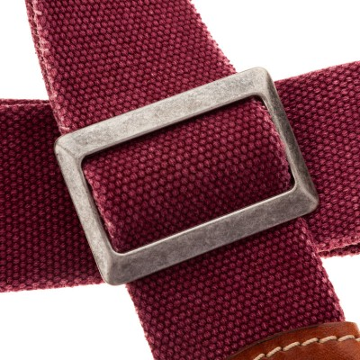 Stripe SS SPECIAL Cotton Washed Bordeaux 5 cm terminali Stone Washed Marrone, fibbia Recta Argento