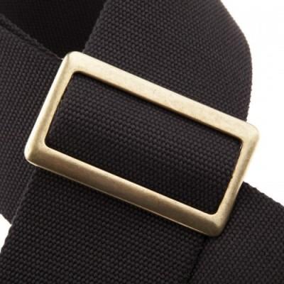 Magrabò Guitar Straps SC Cotton Nero Fibb Ottone Core Nero 8 cm