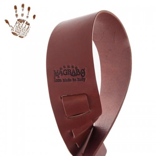 Magrabò Guitar Straps HC Core Marrone Scuro 6 cm