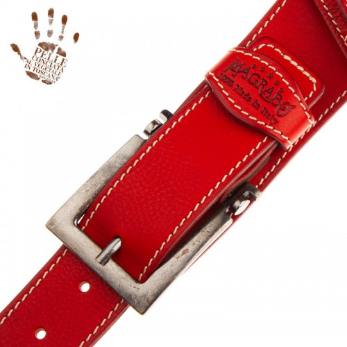 Twin Buckle TS Core Rosso 7 cm fibbie Meccano Argento