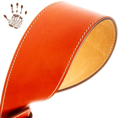 Twin Buckle TS Core Arancio 7 cm fibbie Round Argento