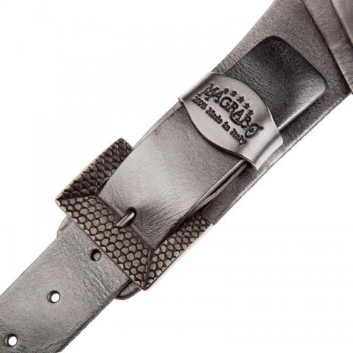 Twin Buckle TC Metallic Steel 7 cm fibbie Scaled Argento