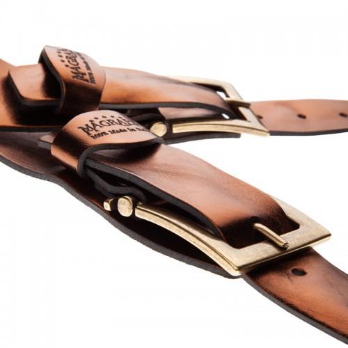 Twin Buckle TC Metallic Bronze 7 cm fibbie Meccano Ottone