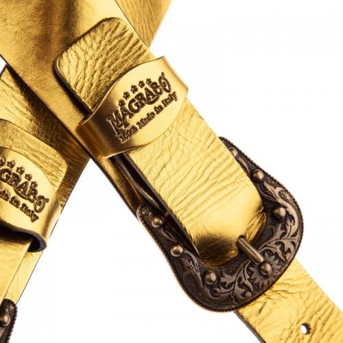 Twin Buckle TC Metallic Gold 7 cm fibbie Sun Ottone