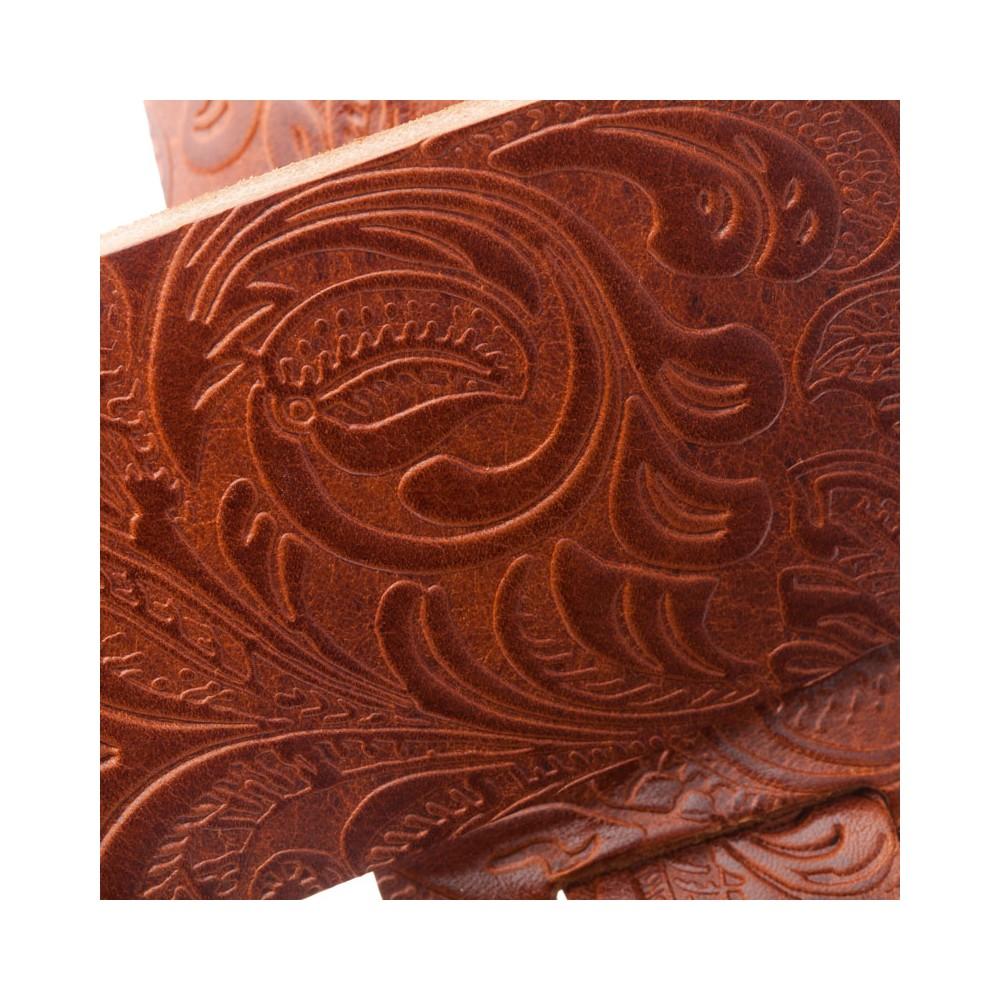 Holes HC Embossed Flores Marrone 6 cm