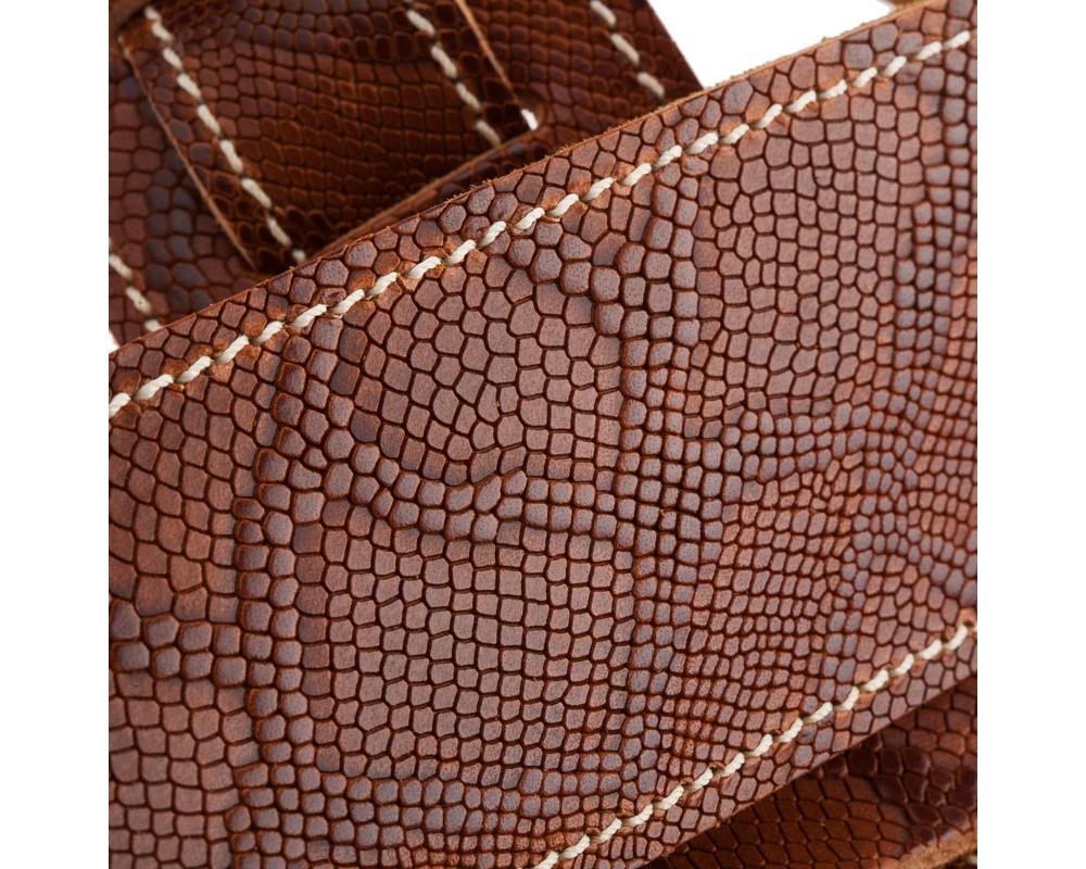 Holes HS Embossed Snake Marrone 6 cm
