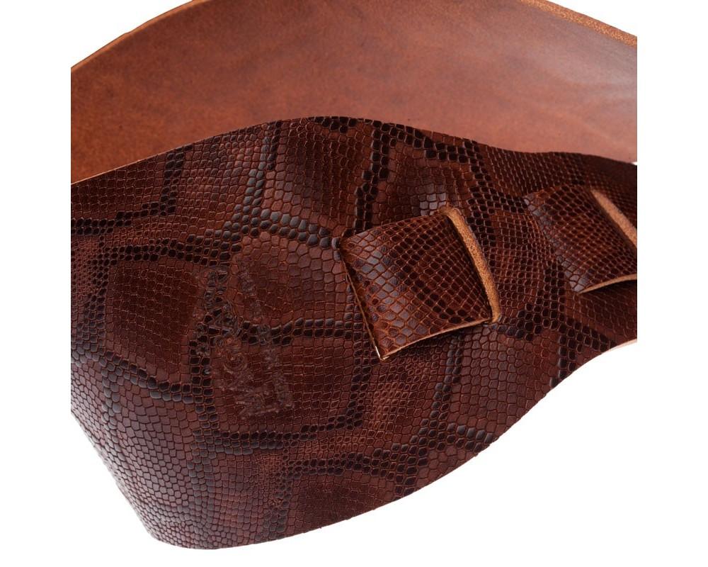 Holes HC Embossed Snake Marrone Scuro 10 cm