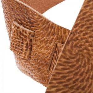 Holes HC Embossed Swivel Marrone Chiaro 8 cm