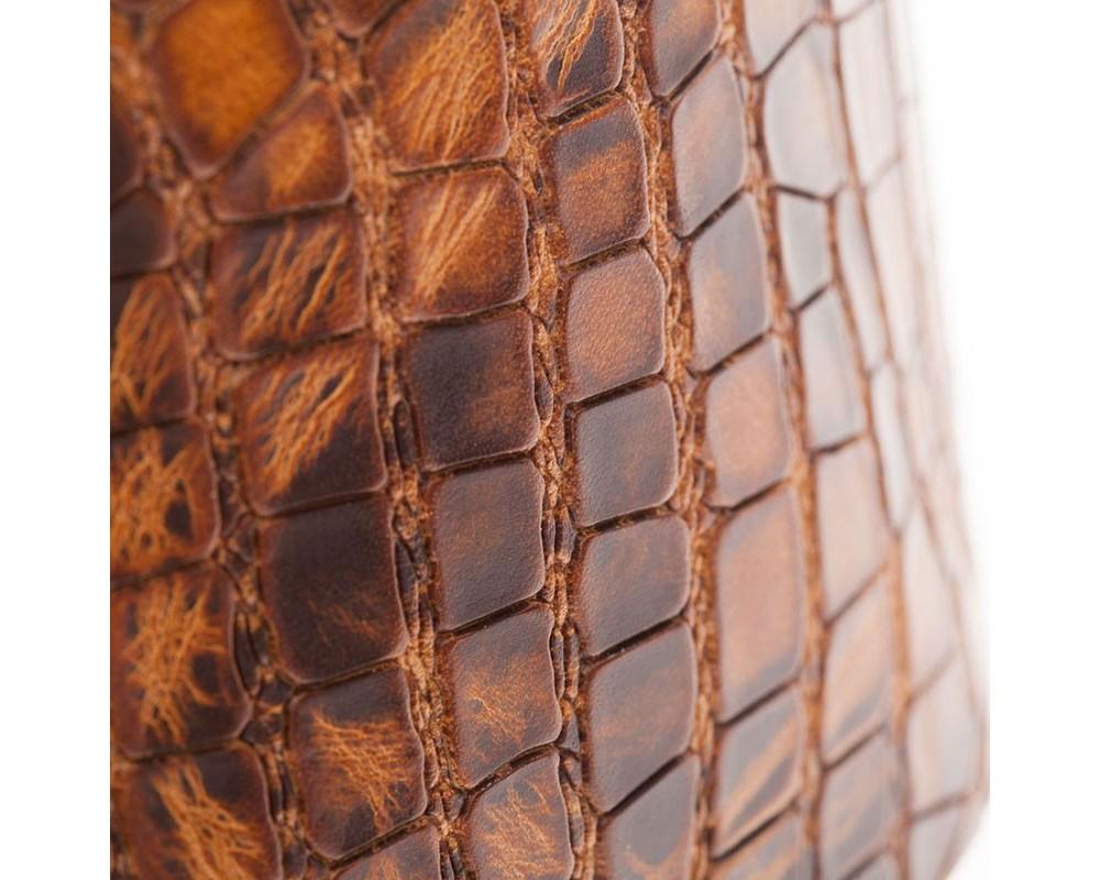Holes HC Embossed Croco Lux Marrone Chiaro 10 cm