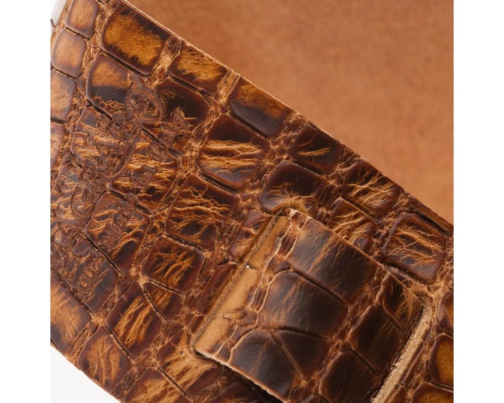 Holes HC Embossed Croco Lux Marrone Chiaro 6 cm