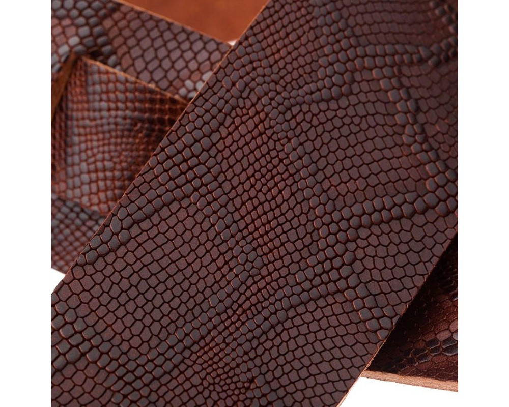 Holes HC Embossed Snake Marrone Scuro 6 cm