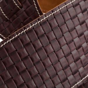 Holes HS Embossed Intreccio Marrone Scuro 10 cm