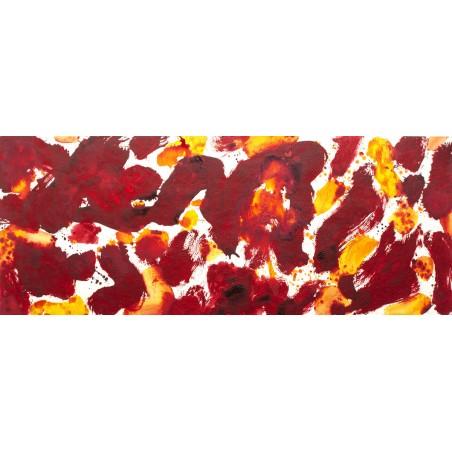 Tracolla per chitarra e basso in pelle Holes HS Art Paint 048 Dipinta a mano 6 cm