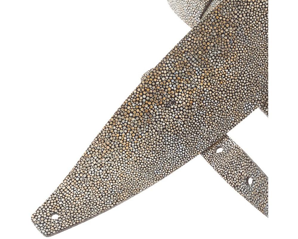 Tracolla per chitarra e basso in pelle Holes HC Embossed Seurat Bianco 10 cm