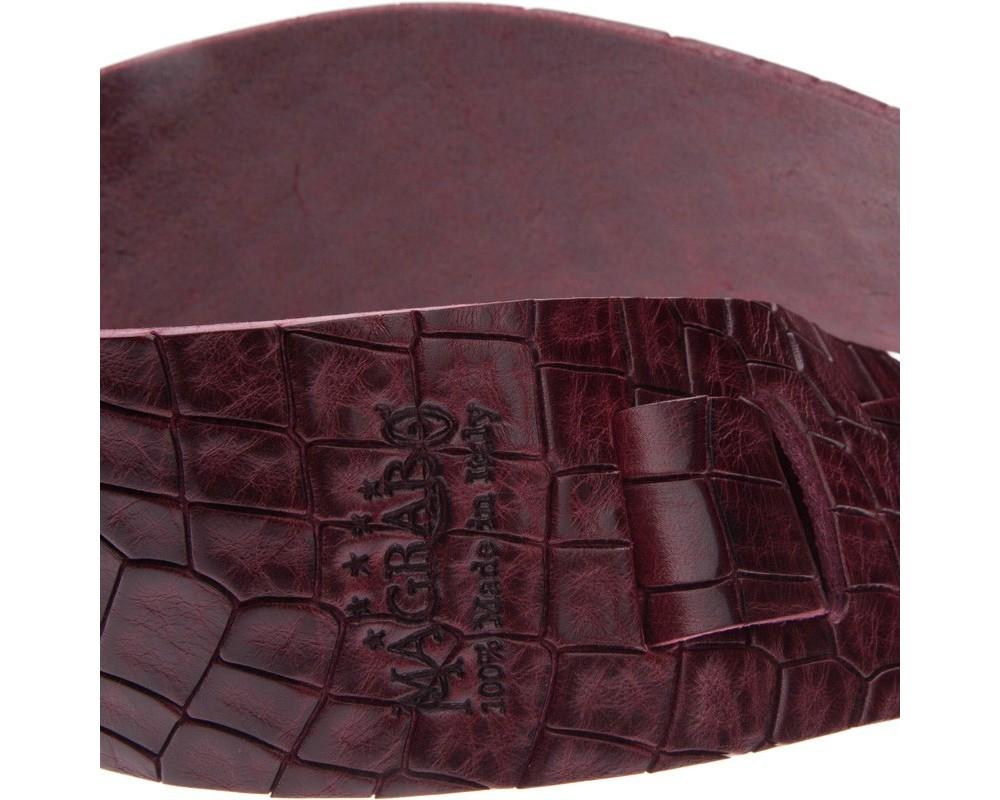 Tracolla Magrabò Holes HC Embossed Cocco Bordeaux 6 cm Bordeaux 6 cm