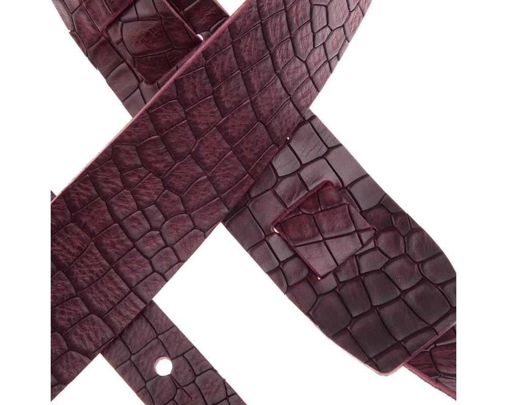 Tracolla Magrabò Holes HC Embossed Cocco Bordeaux 6 cm