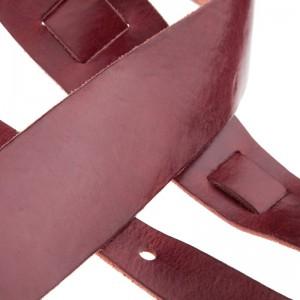Tracolla per chitarra e basso in pelle Holes HC Stone Washed Bordeaux 6 cm