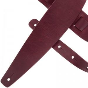 Tracolla per chitarra e basso in pelle Holes HC Core Bordeaux 8 cm