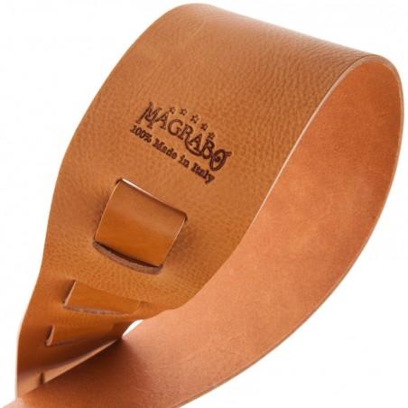 Tracolla per chitarra e basso in pelle Holes HC Core Marrone Chiaro 8 cm