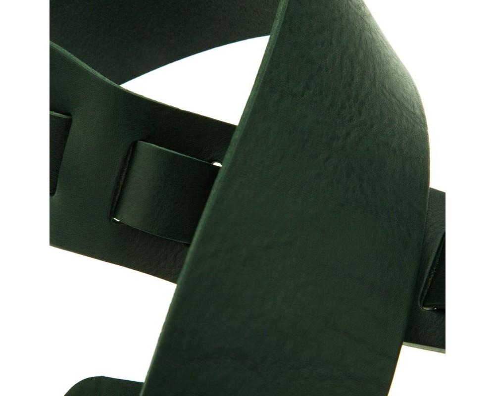 Tracolla per chitarra e basso in pelle Holes HC Core Verde Scuro 8 cm