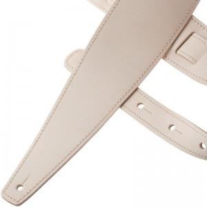 Tracolla per chitarra e basso in pelle Holes HS Core Bianco Tara 8 cm