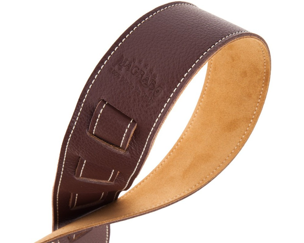 Tracolla per chitarra e basso in pelle Holes HS Colors Brown 6 cm