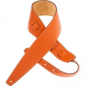 Tracolla per chitarra e basso in pelle Holes HS Colors Arancio 8 cm