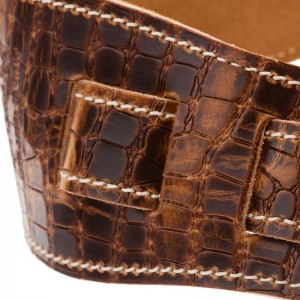Holes HS Embossed Croco Lux Marrone Chiaro 8 cm