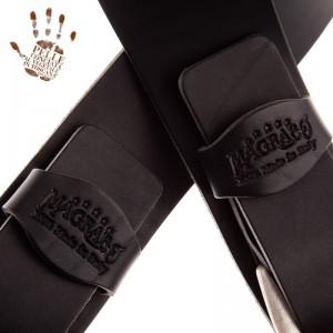 Tracolla per chitarra e basso in pelle Twin Buckle TC Core Nero 7 cm