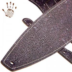 Tracolla per chitarra e basso in pelle Holes HS Embossed Seurat Viola 10 cm