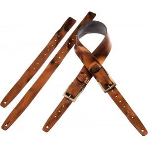 Tracolla per chitarra e basso in pelle Twin Buckle TC Metallic Bronze 7 cm