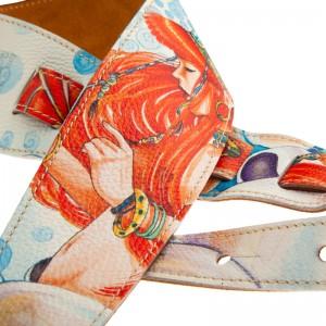 Tracolla per chitarra e basso in pelle Holes HS Art Print Grace (209) 8 cm
