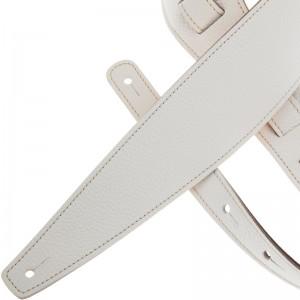 Tracolla per chitarra e basso in pelle Holes HS Colors Bianco 8 cm