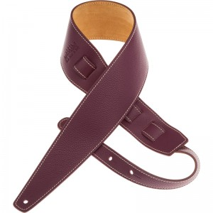 Tracolla per chitarra e basso in pelle Holes HS Colors Bordeaux 8 cm